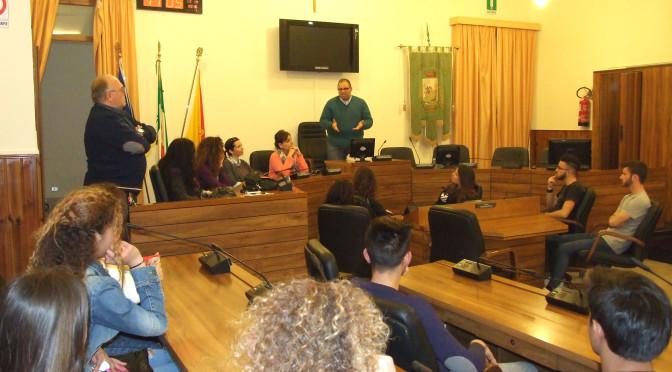Gemellaggio scuole Sciacca-Andalusia, visita al Palazzo Municipale